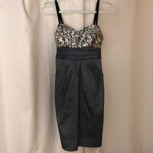 City Triangles Dresses - City Triangles Mini Dress Grey 7 (Women's Small)